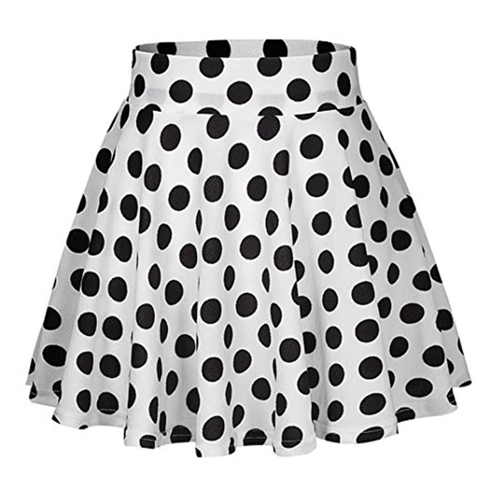 a0ab0096e3 2019 2019 Casual Polka Dots Printed Flared Tutu Circle Pleated Midi Skater  Skirts High Waist Fall Winter Women Midi Skirt Saias Jan8 From Synthetic,  ...