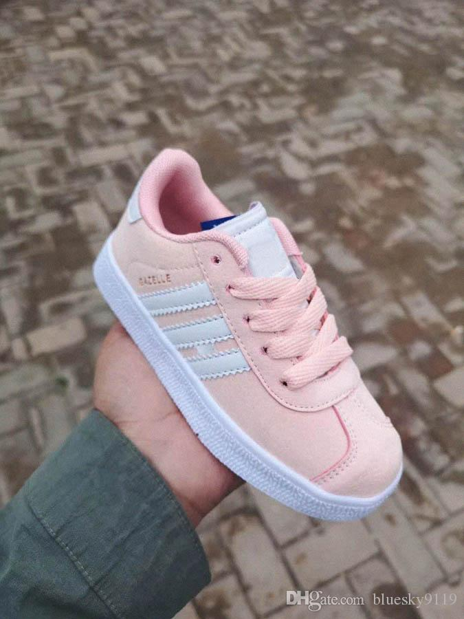 official photos 76681 38deb 2019 New kids gazelles og boys girls shoes For baby parent child children  stan smith samba trainers sneaker outdoor shoes A1212