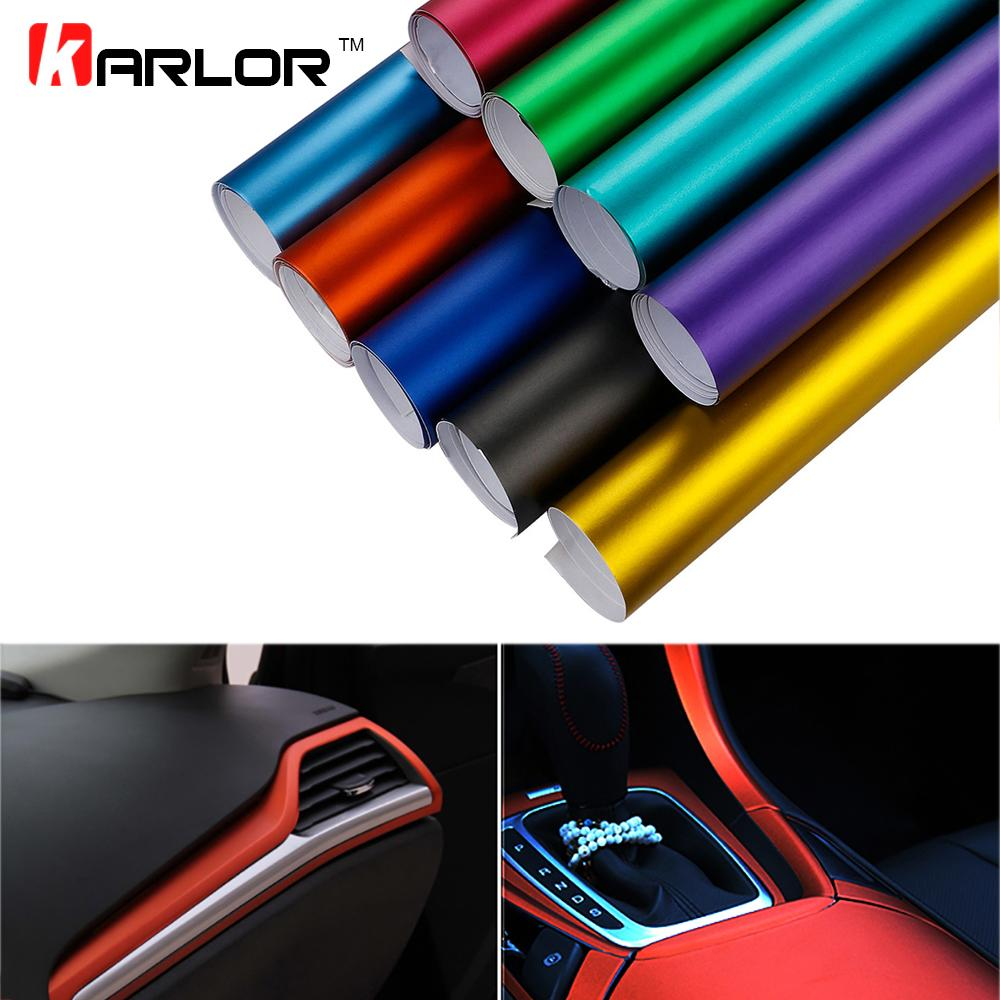 Car Styling 30100cm Pvc Vinyl Wrap Plating Matte Ice Sticker Decorative Auto Film Sheet For Car Truck Motocycle Laptop Keyboard