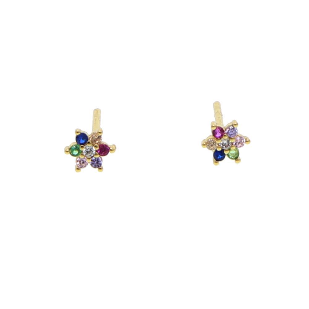 orecchini a bottone color arcobaleno colorati donna ragazza min 5mm multi piercing borchie orecchino color oro adorabile orecchino adorabile
