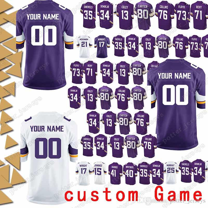 separation shoes e9a70 6c51d Minnesota 99 Danielle Hunter Jersey vikings 97 Everson Griffen 98 Linval  Joseph 54 Eric Kendricks 17 Jarius Wright custom Game Jerseys