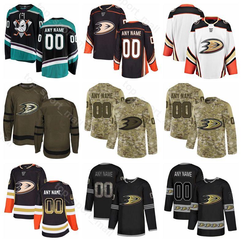 wholesale dealer 69459 7ab33 Anaheim Ducks Ice Hockey Ryan Kesler Jersey Rickard Rakell Hampus Lindholm  Ondrej Kase Cam Fowler Carter Rowney Army Sault To Service Custom