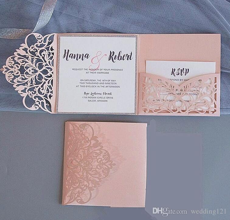 Do You Need An Inner Envelope For Wedding Invitations: Tri Fold Square Birthday Dinner Party Invitation Laser Cut