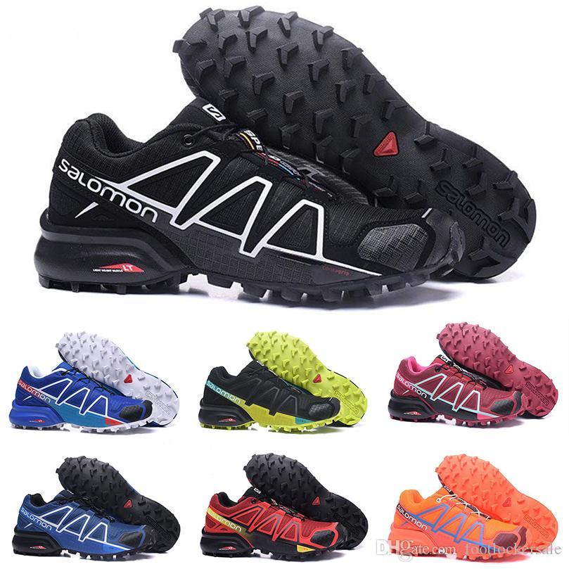 Speed Cross 4 CS IV Chaussures De Course Pour Hommes Femmes En Plein Air Marche Jogging SpeedCross 4 Sports Sneakers Designer Formateurs Chaussures