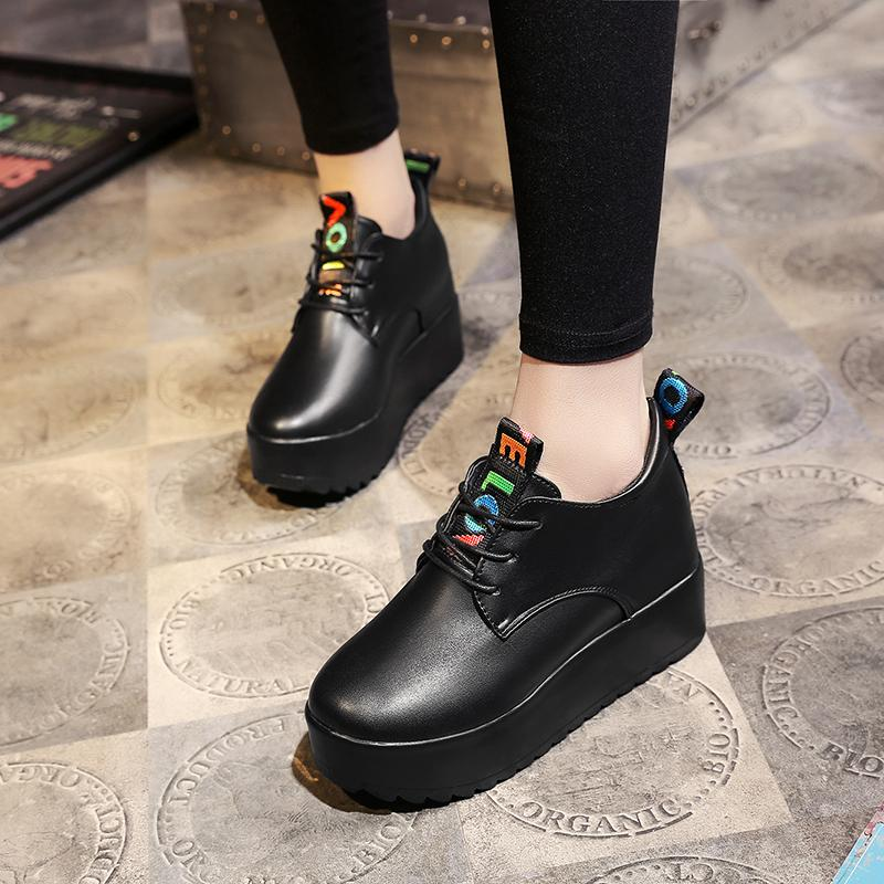 caf126dab1df New Sneakers Women Shoes Woman Black White Patent Leather Casual Shoes  Female Lace Up Ladies Flat Platform Oxfords Shoes Uk Pumps Shoes From  Serady