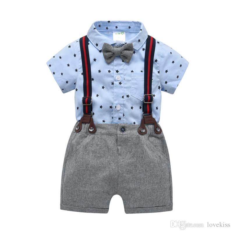 7dd8ceea3 2019 2019 Summer Baby Boy Clothes Baby Formal Attire Shirt Romper+ ...