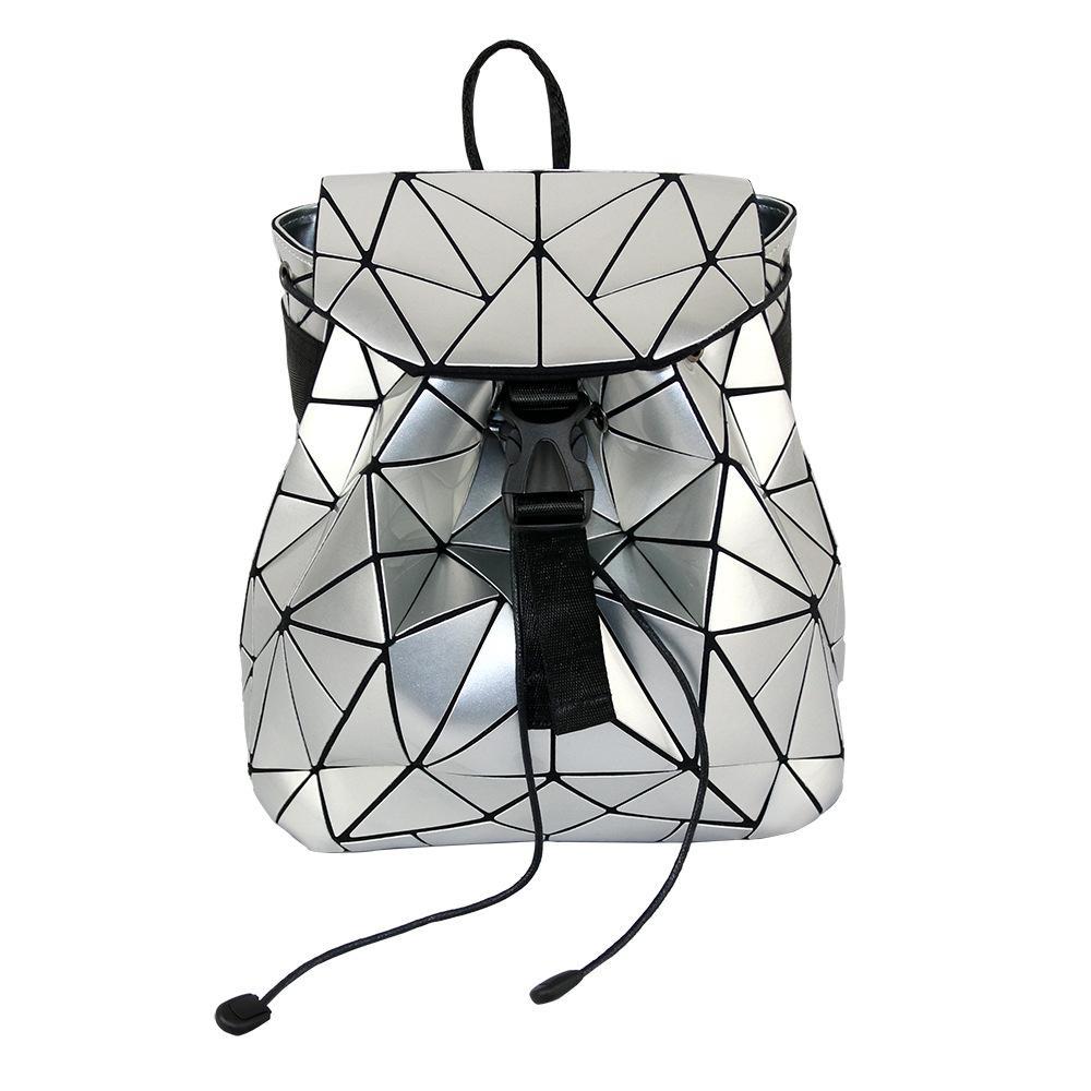 29dc80e2cb 2019 Irregular Geometric Triangle Sequin Backpack Women Bagpack ...