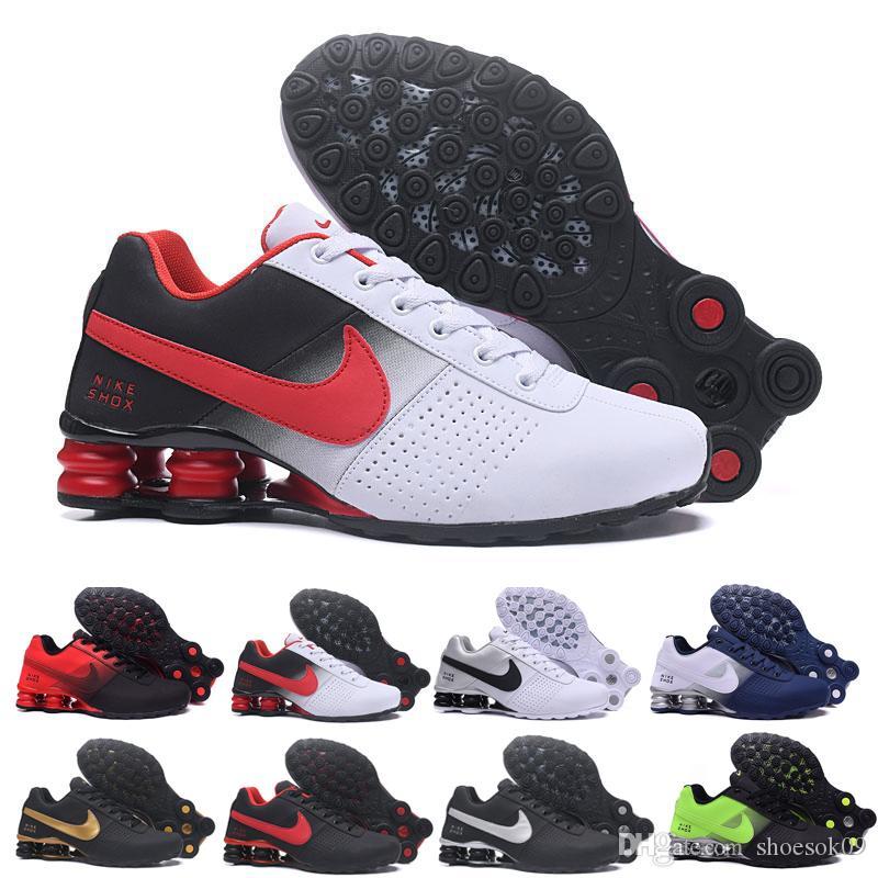 nike Tn plus shox Venta al por mayor Blanco Negro Rojo Clásico Shox Avenue Zapatillas De Deporte Hombre Chaussures Femme Transpirable Entrenadores