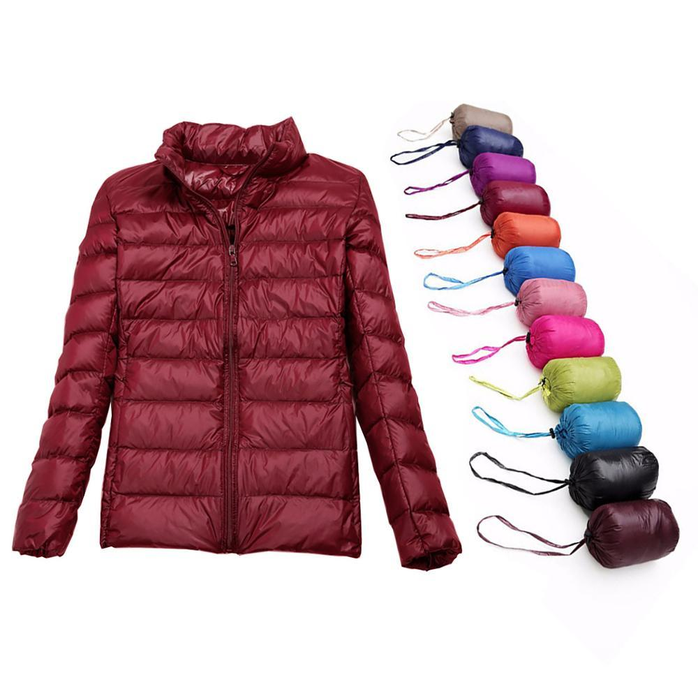 15f1cdae8d1c Chaqueta de plumón para mujer 2019 Marca Abajo Abrigo Pato blanco Primavera  Otoño Outwear Short Parka Winter Ultralight Plus Size Warm Coat 3XL