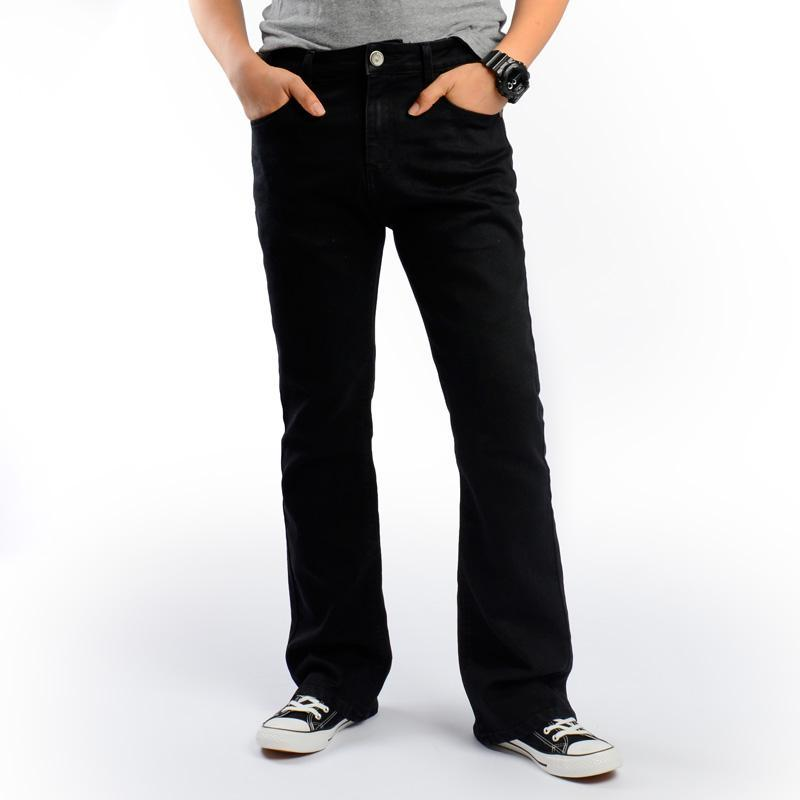 d4e0616287 ... Pantalones Vaqueros Elásticos Pantalones Vaqueros De Mezclilla Negros  Clásicos Corte De Bota Talla Grande 35 36 38 40 42 44 46 Para Jeans Para  Hombre A ...