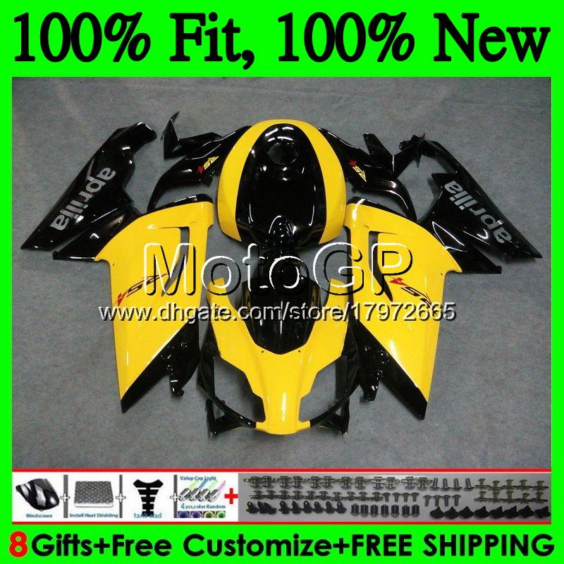 Injection For Aprilia RS4 RSV125 RS125 06 07 08 09 10 11 RS-125 0GP9 RSV RS 125 2006 2007 2008 2009 2010 2011 Yellow blk Fairing Bodywork