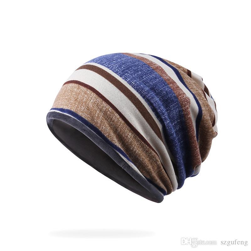 cc9365218ed Snow Outdoor Plus Velvet Cap Designer Hat Fashion Beanie Hats Men And Women  Cotton Hooded Skull Caps Beanie Hats For Men Black Beanie From Szgufeng