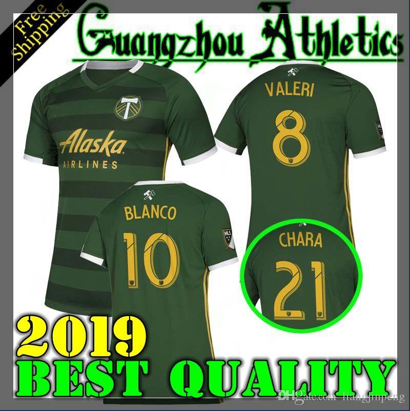 outlet store f075e bca27 NEW 2019 2020 MLS Men Portland Timbers home soccer jerseys 19 20 BLANCO  CHARA VALENTIN VALERI MEN Football jersey Shirts