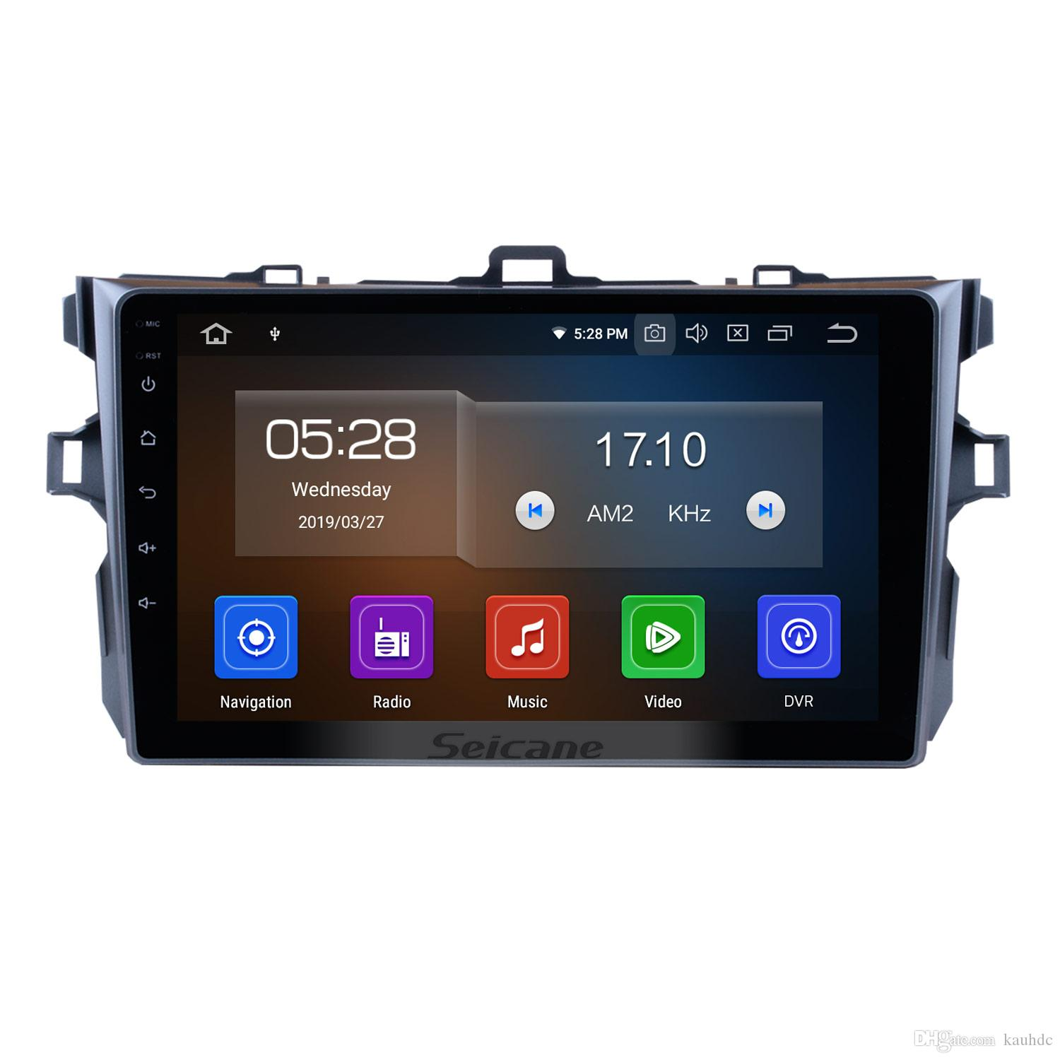 9 inch 1024*600 Touchscreen Android 9 0 Car Radio for 2006-2011 Toyota  Corolla with Bluetooth GPS navigation support Rearview Camera car dvd
