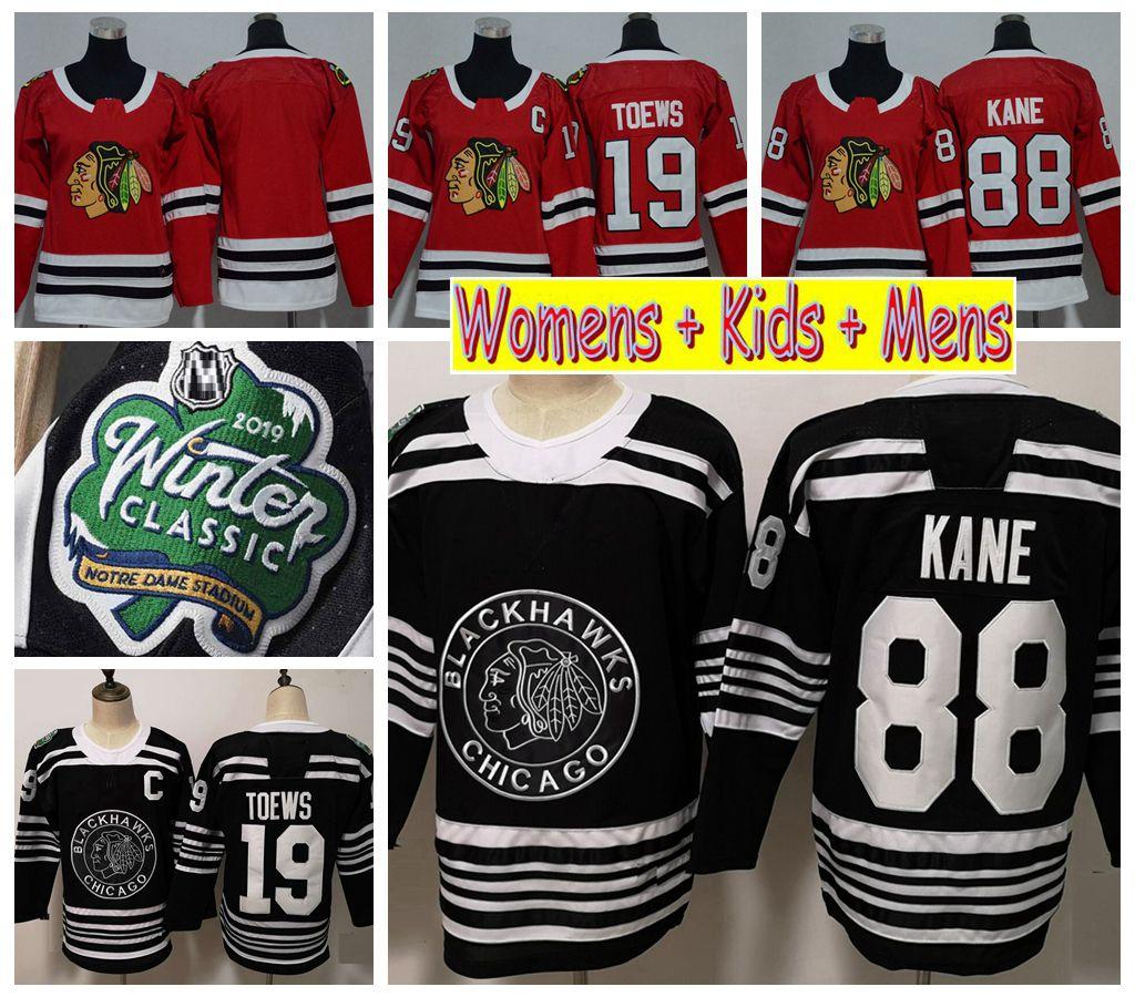 2019 Winter Classic Ladies Chicago Blackhawks Hockey Jerseys Black 88  Patrick Kane 19 Jonathan Toews Kids Womens Mens Stitched Shirts UK 2019  From ... 158a64c7d