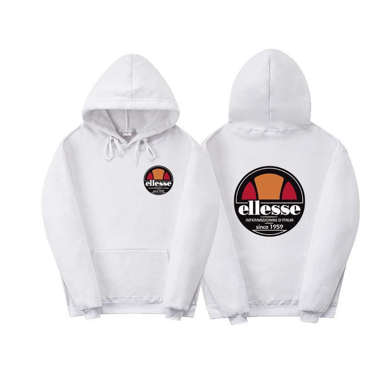 3dd40946db Mens white designer hoodie sweatshirt sweat fashion letter printing Ellesse  hoodie sweatshirt Hip hop street men women pullover sweater