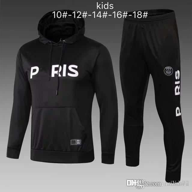 2070c9015 AJ PSG Tracksuit New Paris 2018 2019 KIDS Soccer Training Suit 18 19 ...