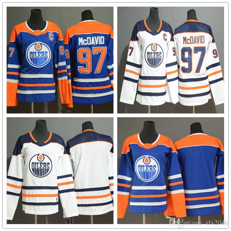 Women S Edmonton Oilers 97 Connor McDavid Fanatics Branded White Royal  Breakaway Youth Kids Lady Hockey Jerseys Embroidered Stitched LOGO UK 2019  From ... b615d22a9