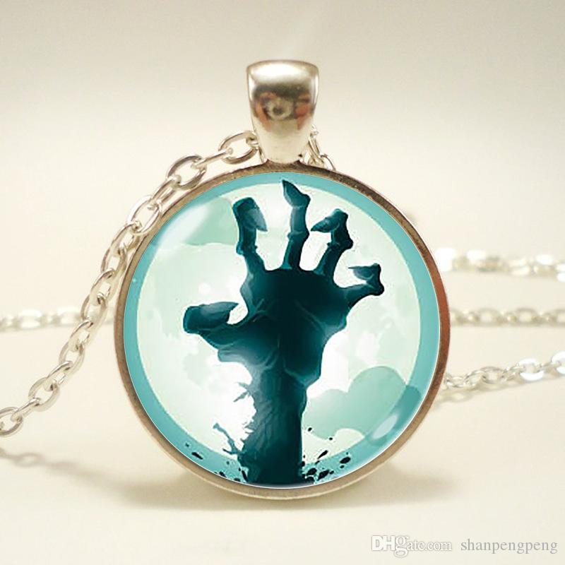 New fashion plant vs. zombie necklace Foreign trade Europe and America popular time gemstone glass pendant jewelry