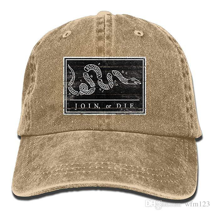 2019 New Cheap Baseball Caps Mens Cotton Washed Twill Baseball Cap US Join  Die Snake Colonial Revolutionary War Military Flag Hat Fitted Hats Baseball  Hats ... a5336f9d4649