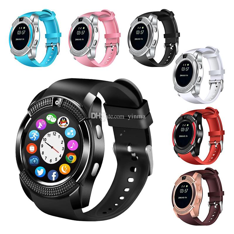 V8 Bluetooth Smartwatch For iOS Android Notification Sync Multi-functional  Smart Watch Support SIM TF Card With 1 3MP Camera