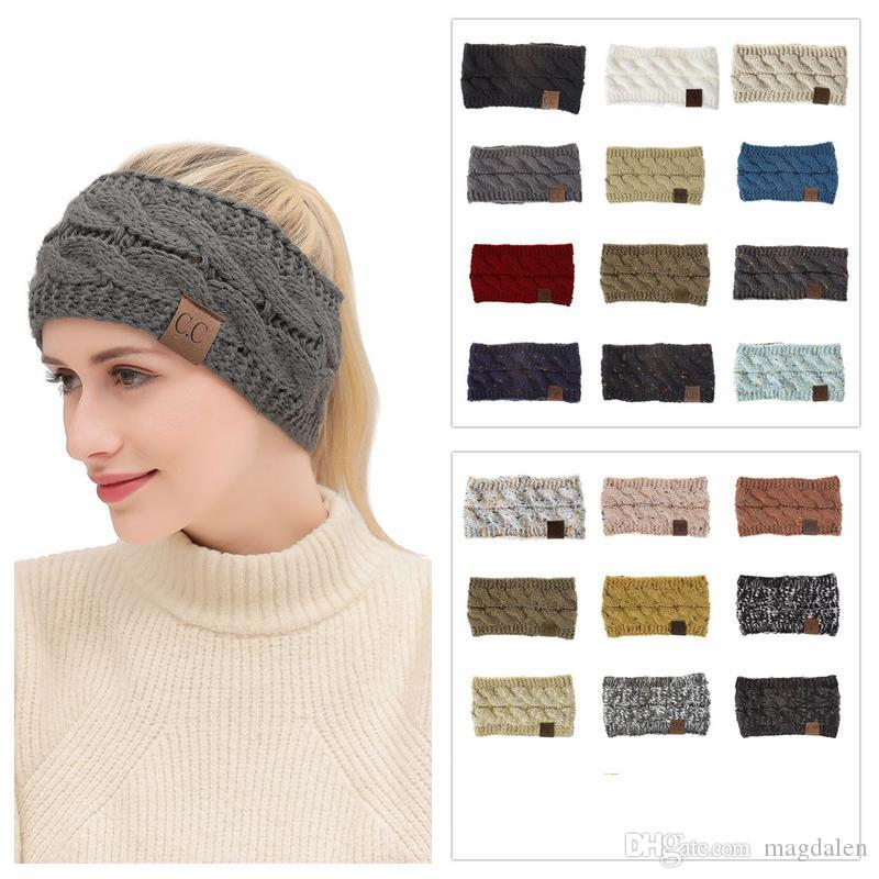 6afb82f1ee7 CC Knitted Headband Headwrap Hat Cap 21 Styles Women Hair Bands Crochet Twist  Ear Warmer Headband Hair Accessories Slouchy Beanie Skull Cap From  Magdalen