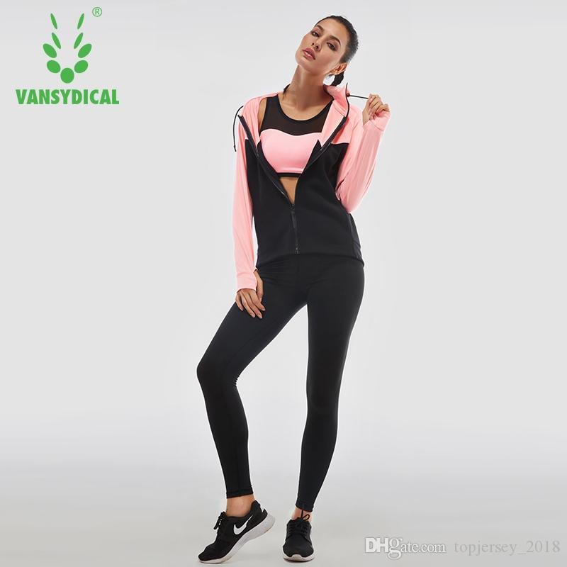 Acquista Vansydical Women Running Suit Abbigliamento Da Palestra Tuta Da  Donna Tute Sportive Donna Yoga Legging Reggiseno Sportivo Calzamaglia  Fitness Donna ... 46fe10ca353