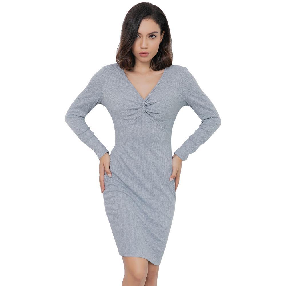 fb8a064248d SISHION Sweater Dress Women Plus Size Grey Long Sleeve Sexy Winter Dress  81779 Casual Knitted Sexy Club Dresses Vestidos Green Junior Dresses Black  Dresses ...