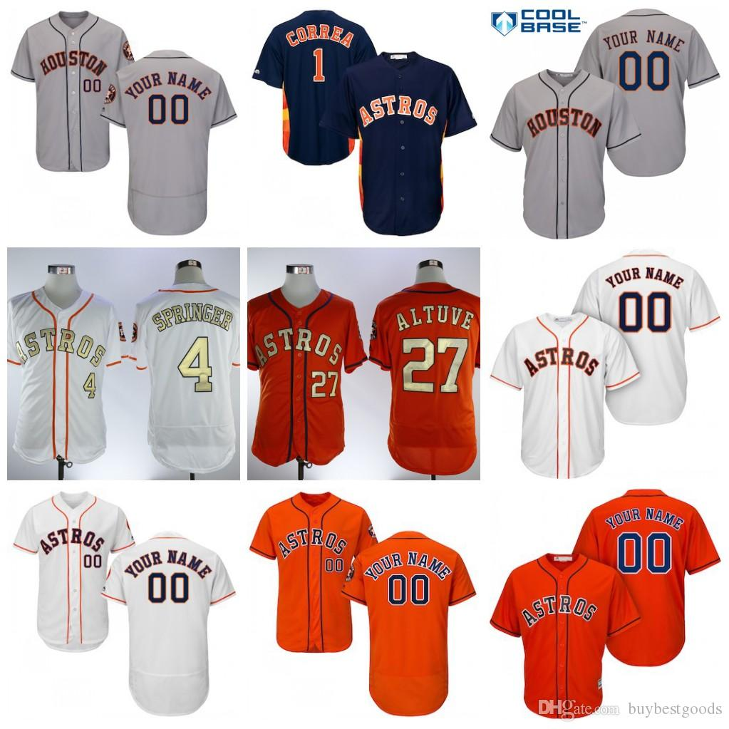 official photos 35948 8a0ff 2019 New Houston Astros Jersey Jose Altuve Carlos Correa Alex Bregman Ryan  George Springer Michael Brantley Justin Verlander Cole Stitched