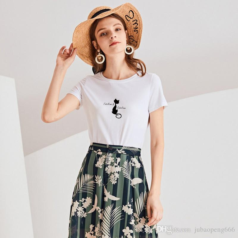 Pure cotton 2020 new fashion short sleeve T-shirt women's good quality top versatile clothes women's large loose letter summer cartoon