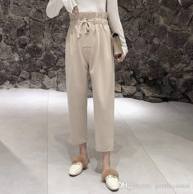 Bottoms Pants & Capris Hot Fashion Women Ladies Summer High Waist Striped Belt Long Pants Casual Wide Leg Trousers Outwear Convenient To Cook