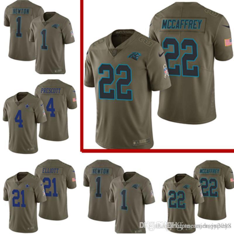 huge selection of a174b bbde1 2017 Salute to Service Carolina Panthers Jersey Mens 22 Christian McCaffrey  1 Cam Newton Football Jerseys Cheap wholesale