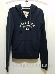 Funny CALIFORNIA HOODIE PULLOVER SWEATSHIRT NAVY BLUE SIZE XS