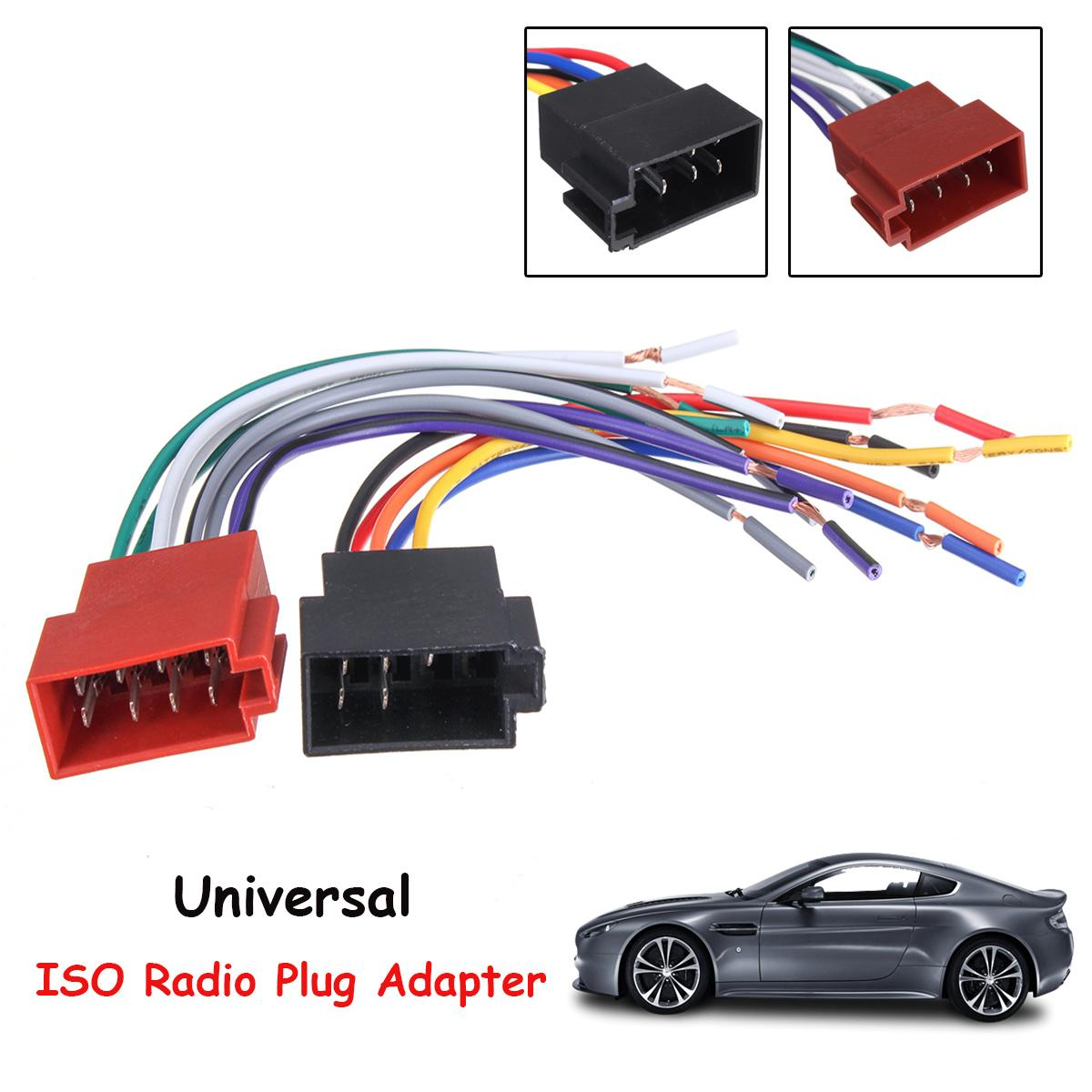 Universal Car Stereo Female ISO Radio Plug Adapter Wiring Cable Stereo Harness