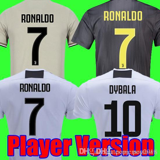 64b1322b8 Player Version 18 19 RONALDO DYBALA Juventus Soccer Jersey 2018 2019  Champion League Football Shirt MANDZUKIC Juventus Camiseta Maillot Online  with ...