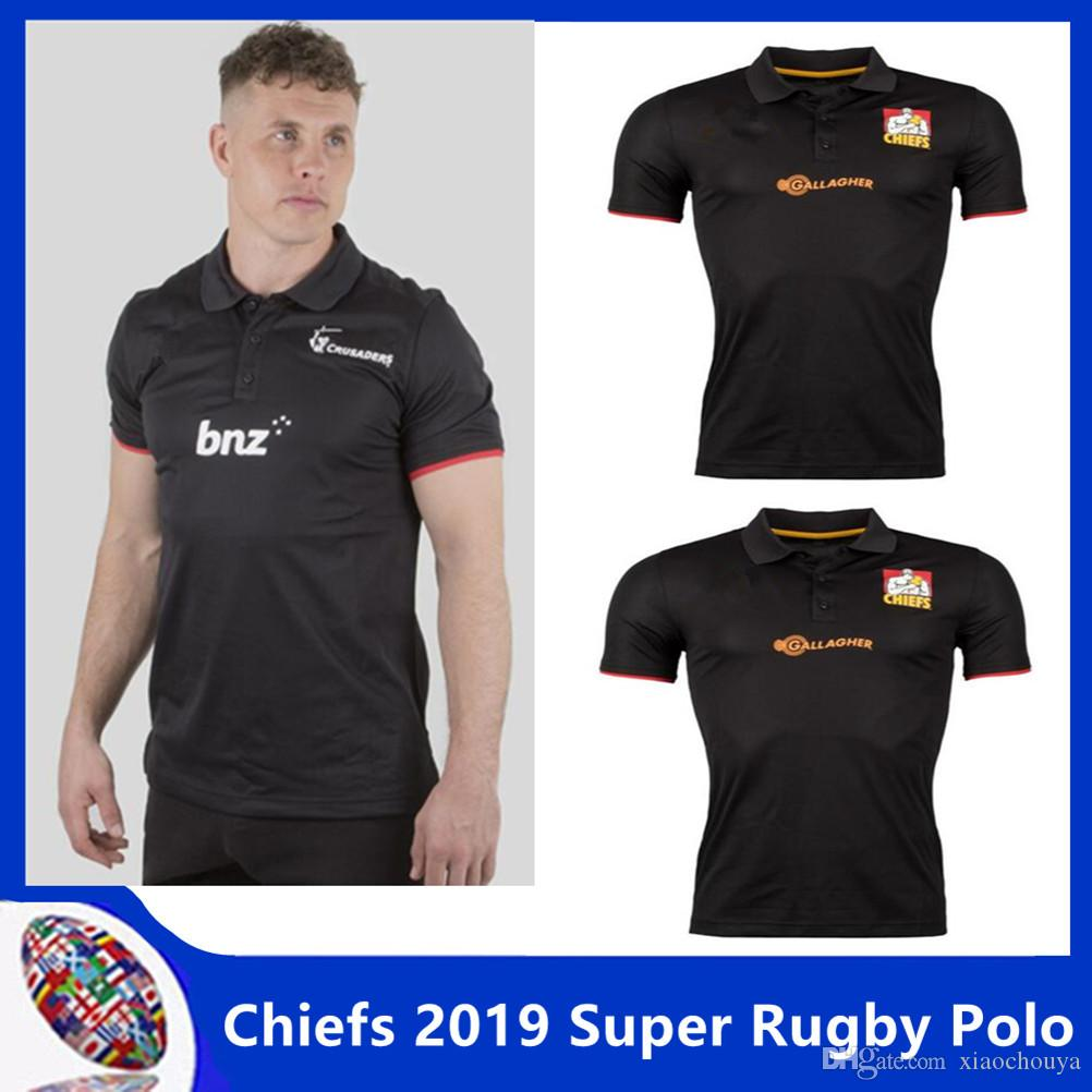 Chiefs 2019 Super Rugby Players Media Polo Shirt 2018 2019 New
