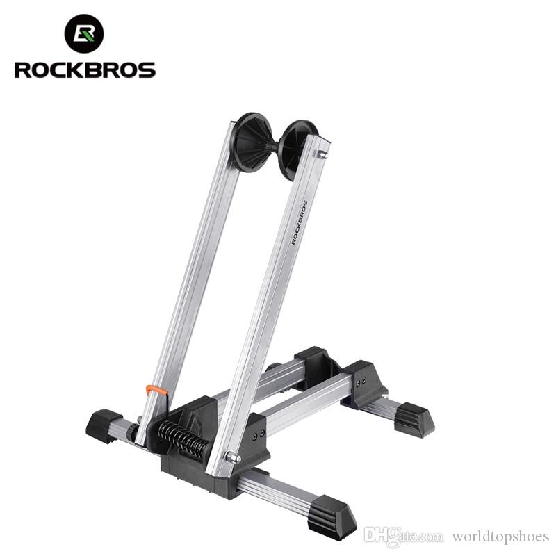 ROCKBROS Bicycle Parking Rack Floor Stand Bike Foldable Repair Support Frame Portable Double Lever Alloy MTB BIKE Park Stop Rack #107039