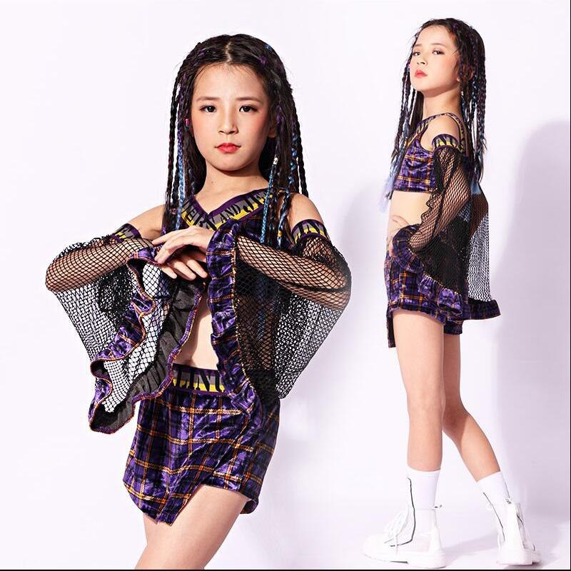 f95871ace5e3 2019 Kids Sequined Hip Hop Clothing Suits Girls Tops Shirt Shorts Jazz  Dance Costumes Ballroom Carnival Party Dancing Outfits From Aprili, $53.17  | DHgate.