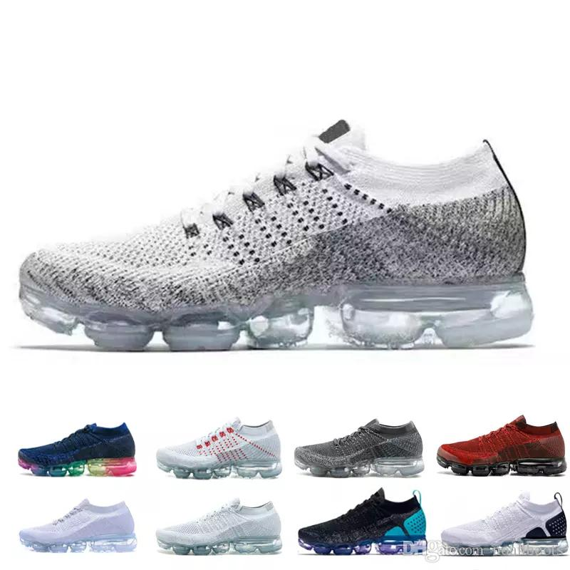 nike air max airmax vapormax flyknit Alta calidad 2018 Air Men Women Running Shoes Cojín superficie transpirable línea de mosca zapatos deportivos