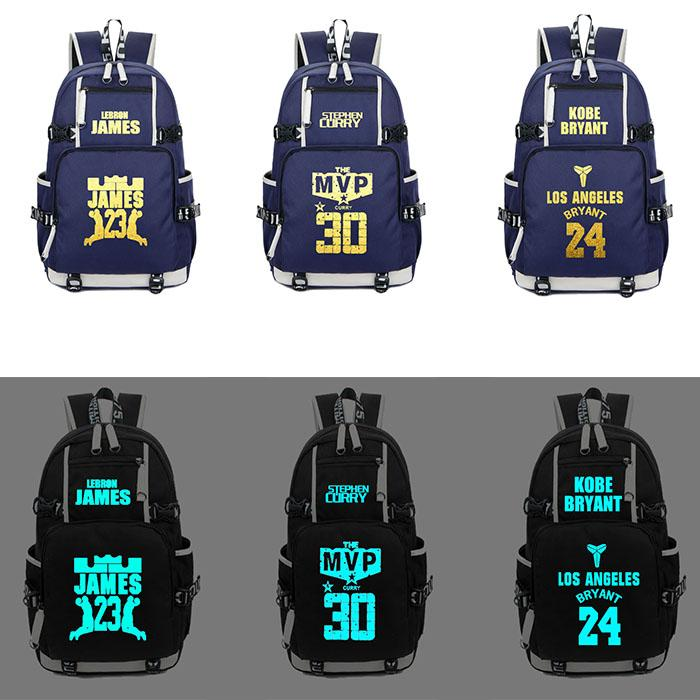 d530365224 USA Kobe James Curry Basketball Backpack Laptop 14 15 Inches And Girl  Student Schoolbag Shoulder Bags For Men And Women Cool Backpacks Travel  Backpack From ...