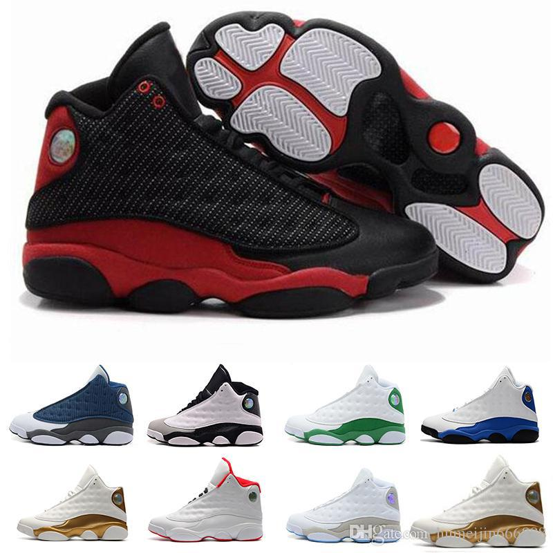 24ab2d0cac99d6 Top Quality Wholesale Cheap NEW 13 13s Mens Basketball Shoes Sneakers Women  Sports Trainers Running Shoes For Men Designer Size 5.5 13 White Sneakers  For ...
