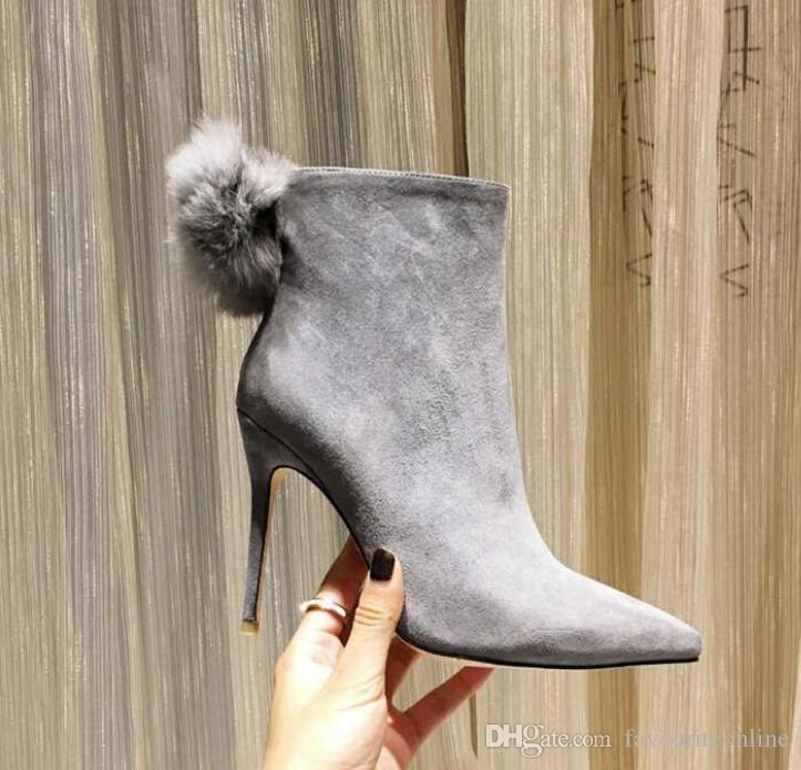 Brand New JC Womens Ankle Knight Pashm Winter Ms Short High Heel Martin Venonat Sheepskin Suede Boots Shoes Size 35-41