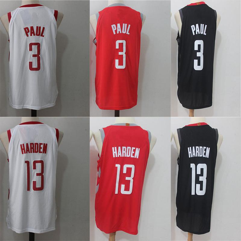 c687bfff50f 3 Chris Rockets Paul  13 James Jersey Harden Men s Basketball ...