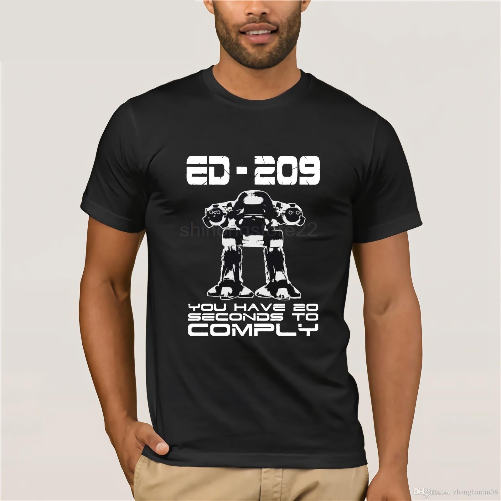 c2be3e804 100% Cotton O Neck Printed T Shirt Robocop T Shirt ED 209 Printed Shirt  Best Tshirts From Zhanghanlin08, $14.21| DHgate.Com