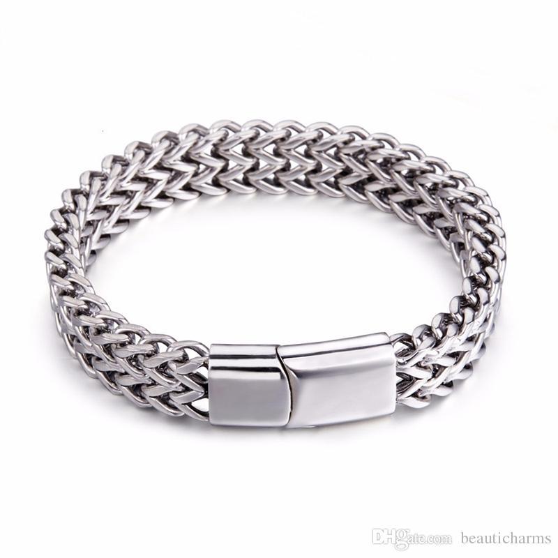 e24da0ca5bc Acheter En Acier Inoxydable Bracelet Bijoux Pour Hommes Bracelets Bracelets  19cm   21cm Longueur Choisissez Ornement De La Main Des Hommes De  7.46 Du  ...