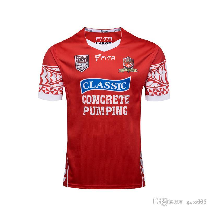 2018 World Cup S-3XL Quality New Tonga National Rugby League Jersey Pacific Test Rugby Coalition Jersey