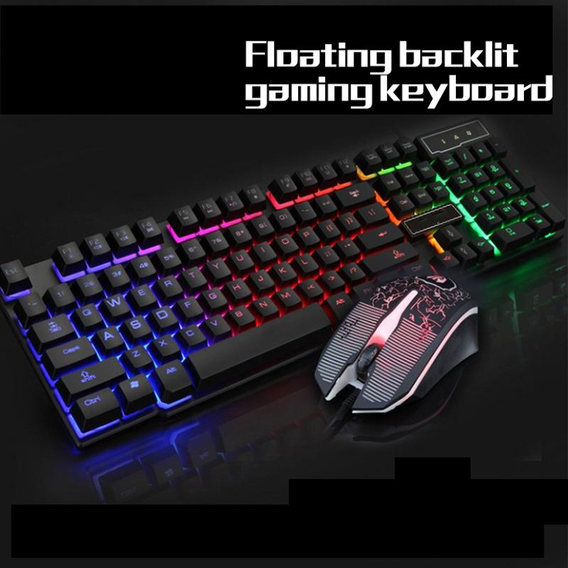 60a27d33f35 Colorful Backlit Russian Keyboard Computer Optical 6D Wired Gaming LED  Crack Mouse Keyboards Cheap Keyboards Colorful Backlit Russian Keyboard  Online with ...
