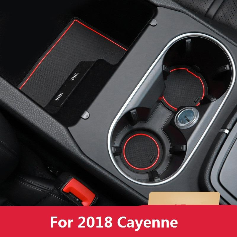 Car Interior Decor Side Door Groove Mats Cup Holder Coasters For