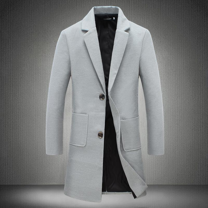 555a145b526 Cheap Mens Slim Fit Trench Coats Jackets Best British Style Winter Coats