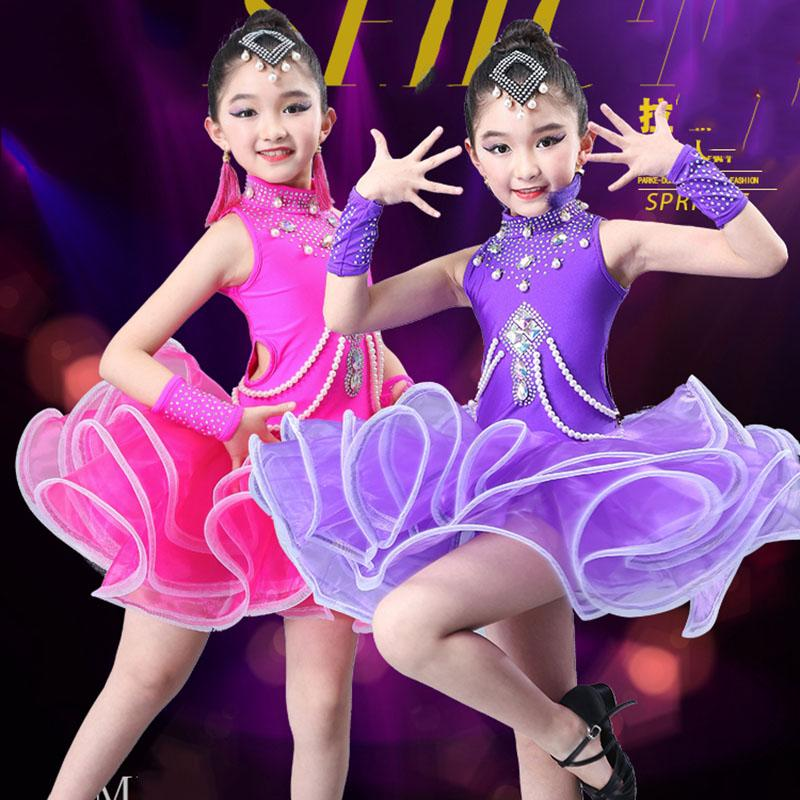 948949c50eef 2019 2019 New Design Girls Latin Dance Dresses Performance Clothing ...